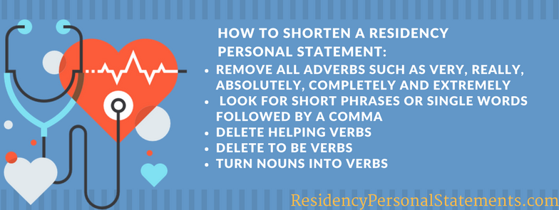 how to shorten a residency personal statement