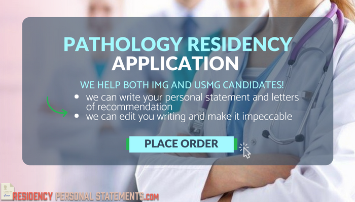 how to write a pathology residency personal statement