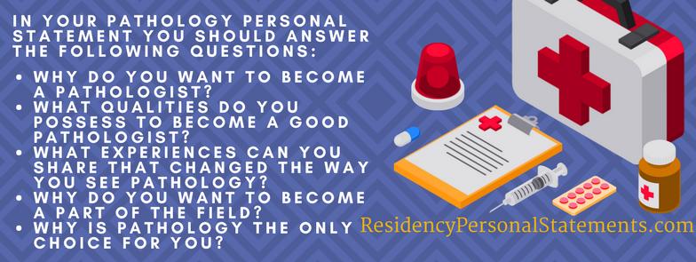 pathology personal statement tips