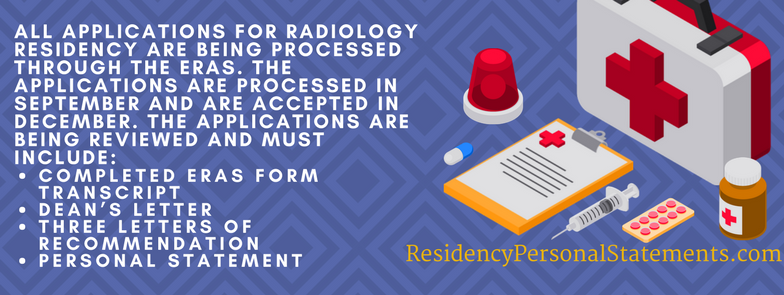 radiology residency application checklist