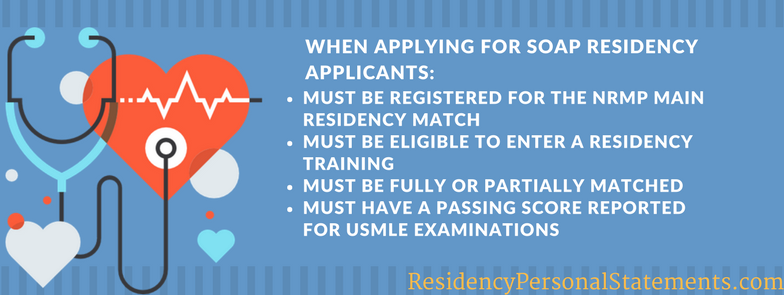 soap residency application requirements
