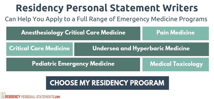 emergency medicine residency personal statement writing help