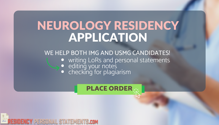 help writing neurology residency personal statement
