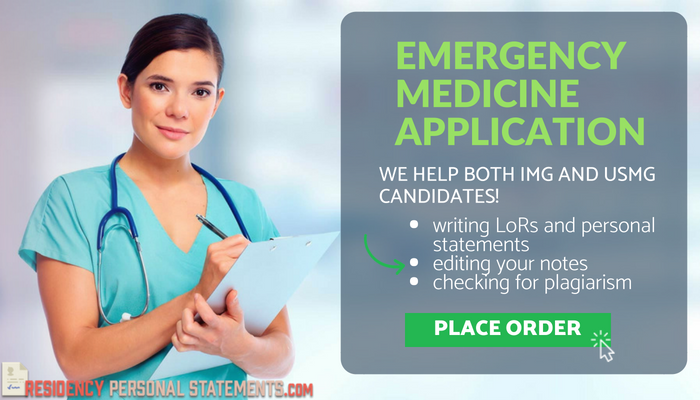 Top Notch Emergency Medicine Residency Personal Statement