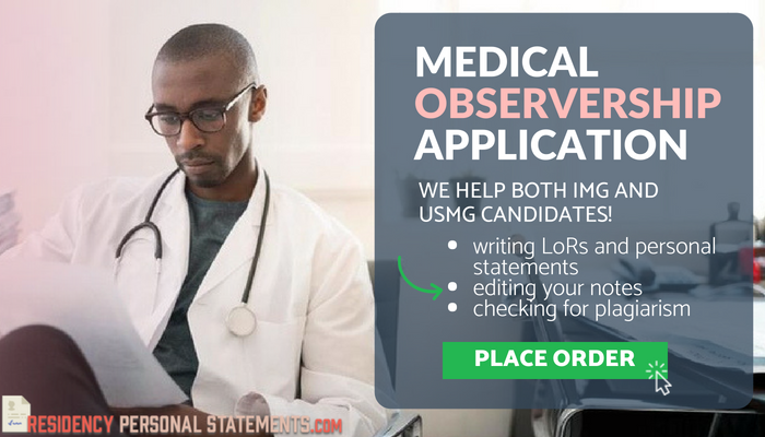 help with observership in usa for international medical students