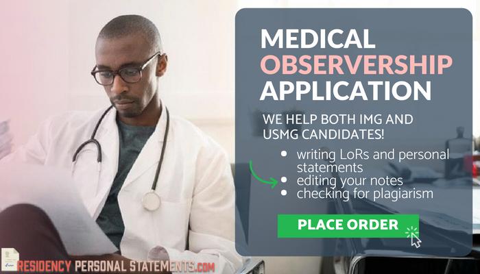 Winning Medical Observership Personal Statement | IMG & USMG