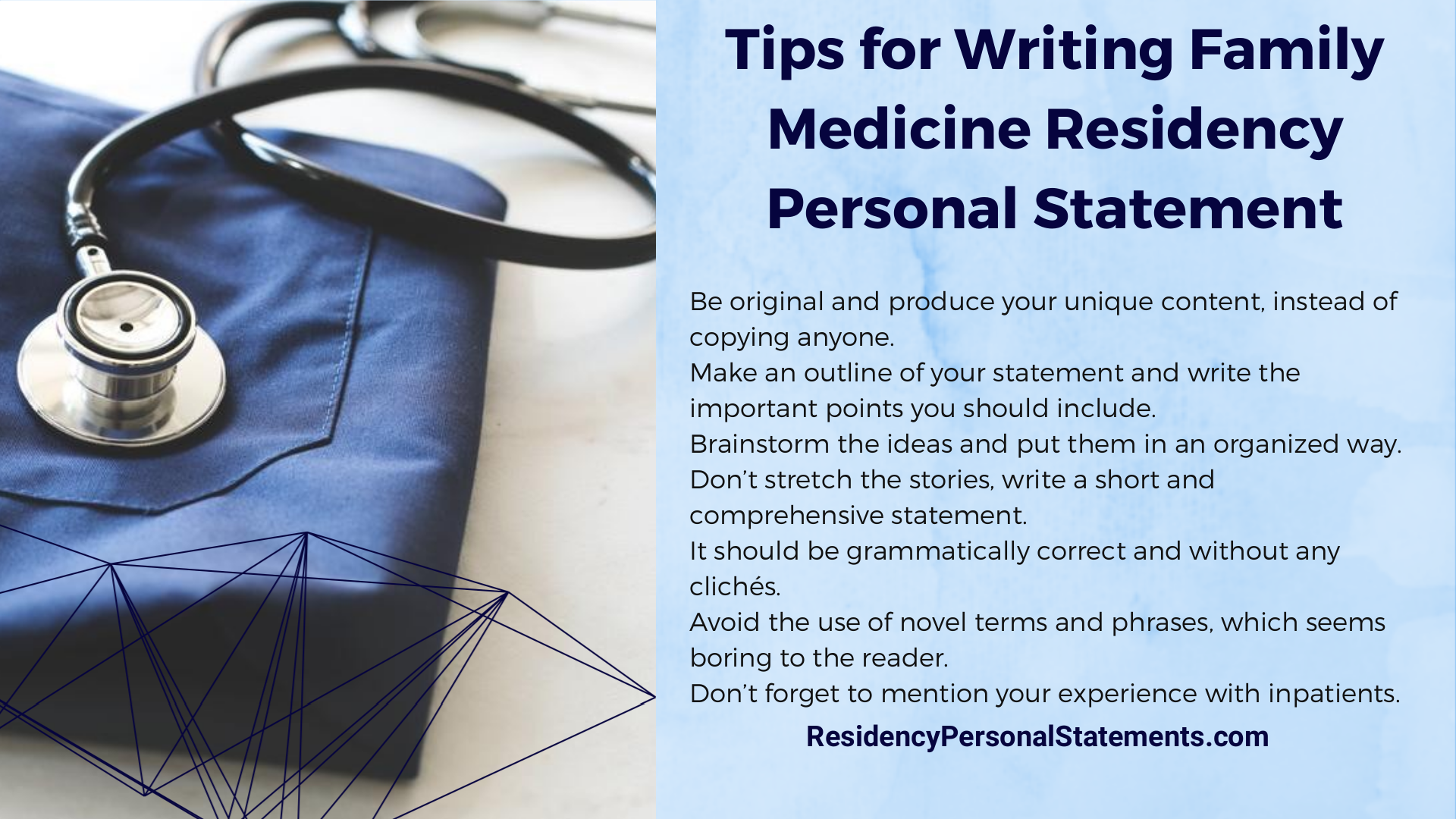 family medicine residency personal statement writing