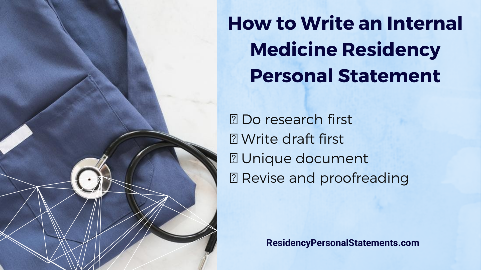 Internal Medicine Residency Personal Statement Writing