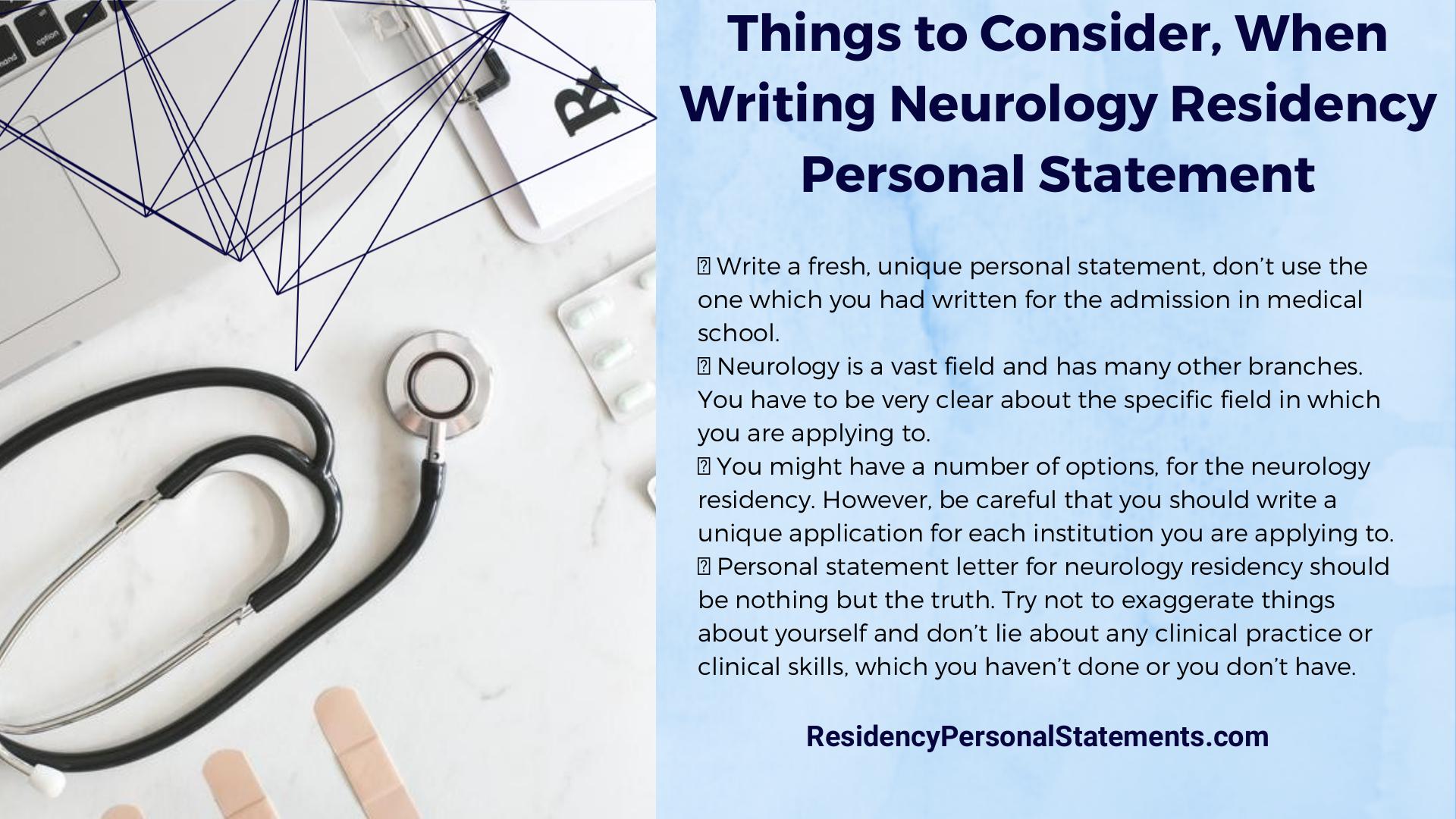 neurology residency personal statement