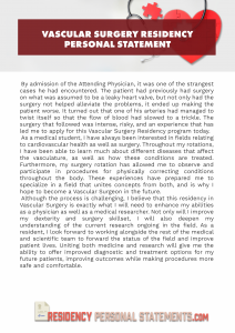 vascular surgery residency personal statement