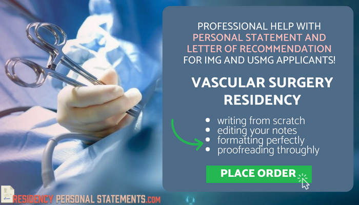 writing a personal statement for vascular surgery