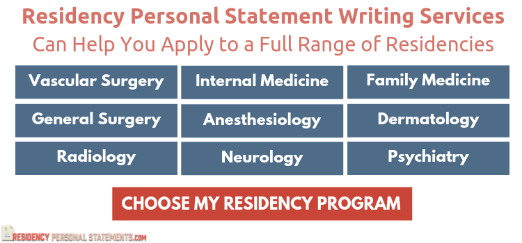 help writing personal statement for residency application