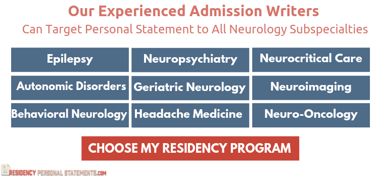 neurology residency application help