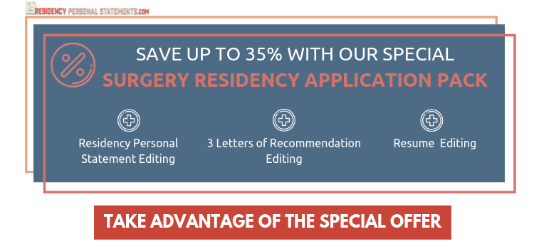 personal statement for surgery residency