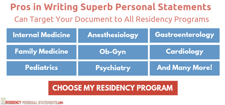 residency application personal statement writing